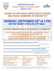 Suicide Prevention Day Announcement Sept 10
